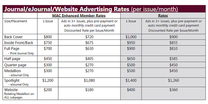 2016 Advertising Rates
